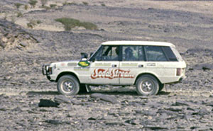 John Hemsley Range Rover full overland Cape Town-London record holder